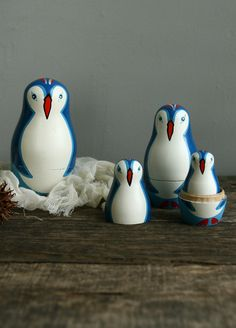 vintage penguin matryoshka. $28.00, via Etsy.
