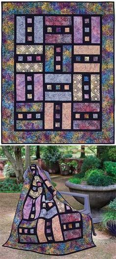 Inspiration only: ZIPPERS QUILT PATTERN Link leads to pattern available for purchase.