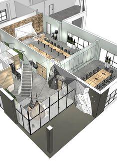 Corporate Office Design, Office Space Design, Modern Office Design, Corporate Interiors, Office Interior Design, Office Interiors, Interior Design Inspiration, Office Layout Plan, Office Floor Plan