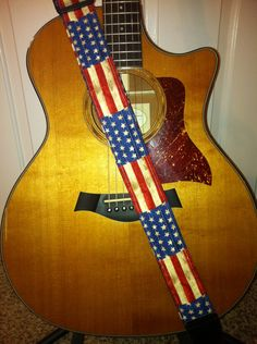 guitar strap handmade american flag guitars flags and unique guitars. Black Bedroom Furniture Sets. Home Design Ideas