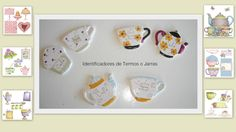 Identificadores - Pintura sobre porcelana