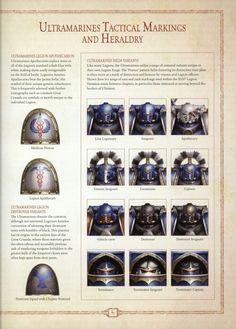 Ultramarine legion heraldry and tactical markings