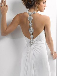semi backless with t-strap - Maggie Sottero Colby
