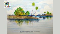 lake easy scenery draw beginners coloring simple drawings drawing painting pencil