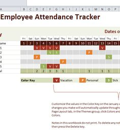 free excel leave tracker template updated for 2018 employee