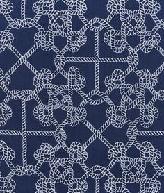 Duralee Roped In Navy Fabric