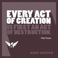 Every act of creation is first an act of destruction. - Pablo Picasso kodiseaton.com | #routinesnotresolutions #health #diet #fitness #exercise #motivation #body #training #inspiration #workout #dedication #gym #quotes #determination #fitspo #getfit #active #healthychoices #lifestyle #training #healthy #fitnessaddict #goals #fitlife #noexcuses #follow #igfit #igfitness #athlete #365fitness