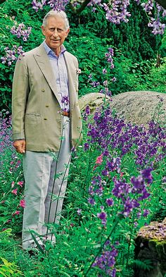 Prince Charles in his garden at Highgrove