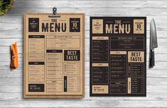 Classic Food Menu Templates **Classic Food Menu**this menu made for your special event.**Spesification*** AI & PSD Fi by Tokosatsu Food Menu Template, Printable Menu, Flyer Template, Menu Templates, Carta Restaurant, Restaurant Menu Design, Restaurant Identity, Pizza Restaurant, Cafeteria Menu