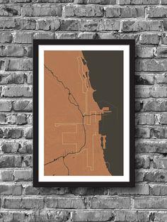 Chicago Marathon Map 10x15