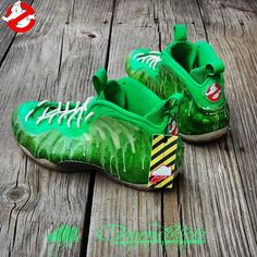 "Nike Air Foamposite One ""I've Been Slimed"" Customs by @GourmetKickz"