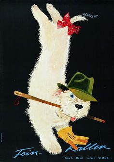 Vintage Ad Poster by Alois Carigiet: Fein-Kaller, 1959