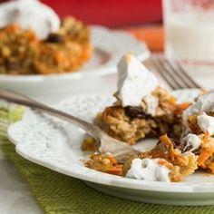 Heavenly Carrot Cake Baked Oatmeal by Oh She Glows