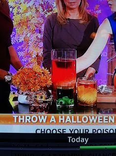 spooky colored water vases