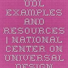 UDL Examples and Resources | National Center On Universal Design for Learning