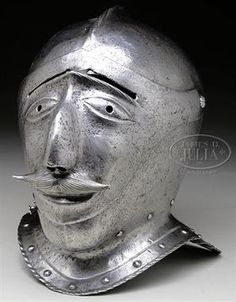 16th Cent German close helmet with grotesque visor