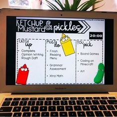 20 minutes of ketchup and pickles time on a Friday is a MUST! My students love h. 20 minutes of ketchup and pickles time on a Friday is a . Classroom Procedures, Classroom Behavior, Classroom Activities, Classroom Organization, Classroom Expectations, 5th Grade Classroom, New Classroom, Classroom Ideas, Middle School Classroom