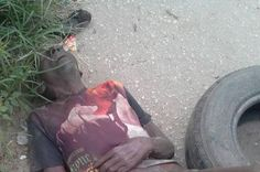 Photo: Yet To Be Identified Elderly Man Lying Along Oshodi Road