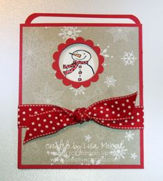 Slide Out Pocket Cards Christmas and Baby | Creative Cucina. For concert tickets at craft fair.