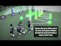 Soccer Coaching Attacking Drill: Attacking 1v1/2v1 - YouTube