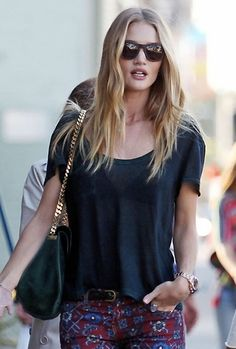 Rosie Huntington-Whiteley in a Cotton Citizen tee http://rstyle.me/n/emjemn8e for $59 at The Trend Boutique. #recessionista