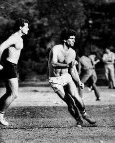 John F. playing football in Central Park. John Kennedy Jr, Jfk Jr, Carole Radziwill, John Junior, John Fitzgerald, Us History, Timeless Fashion, Gq, Beautiful Men