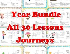 Vocabulary Crossword Puzzles - Complete Year Bundle - Journeys