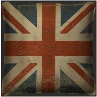 Vintage British Flag Pillow