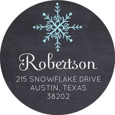 Snowflake Round Address Labels