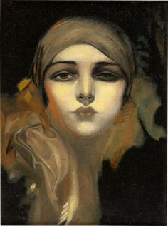around 1930's 'Flower Of The Orient Study' (after Rolf Armstrong's 'FLOWER OF THE ORIENT'), by Howard Connolly (American, 1903~1990) | oil on canvas http://www.arcadja.com/auctions/en/connolly_howard/artist/181490/