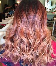 15 Fashionable Balayage Hair Looks: #6. Stunning Strawberry Blonde Balayage
