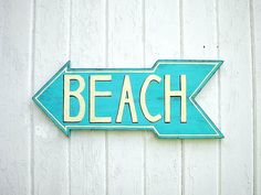 Wooden beach sign  lake sign  turquoise  door Twigs2Whirligigs