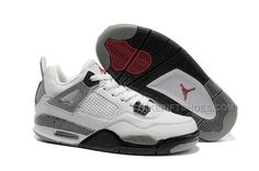 "online retailer fc4b2 7f0f2 Air Jordan 4 GS ""Cement"" White Black-Tech Grey For Sale Online Womens"