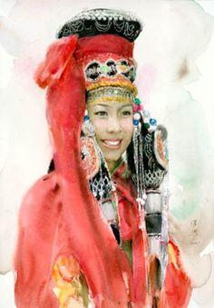 INNER MONGOLIAN BRIDE, Guan Weixing (b1940; Dunhua County, Jilin Province)