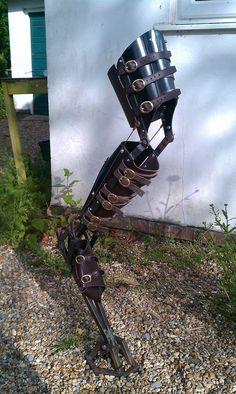 Steampunk mechanical leg