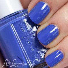 Essie Chills & Thrills is a purple-based indigo creme that has hints of periwinkle