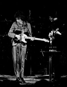 Bob Dylan and Robbie Robertson, 1966