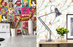 Papel de parede, adesivos, pôsteres e espelhos ajudam a renovar a decoração da sua casa sem gastar muito. Confira dicas de como usar esses materiais!