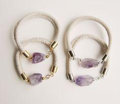 Amethyst and Rope Bracelet.. $26.00, via Etsy.
