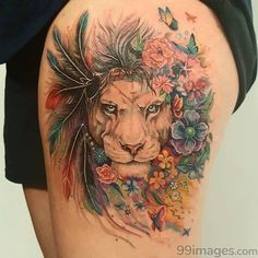 Lion with a mane of flowers Original painting by Lion with a mane of flowers Original painting by Pixie Cold Related Post Kimee tattoo Foot ankle tattoo . 40 Beautiful Tattoos for Girls – Latest Hottest Ta. Crazy Tattoo Ideas – Part 01 Tatuajes Tattoos, Leo Tattoos, Time Tattoos, Future Tattoos, Animal Tattoos, Body Art Tattoos, Sleeve Tattoos, Tattoos For Guys, Tatoos