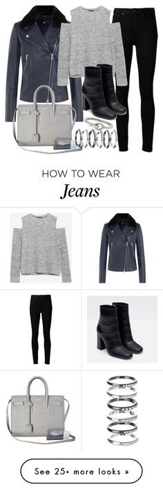 """Untitled #19324"" by florencia95 on Polyvore featuring Paige Denim, Steffen Schraut, Zara, Yves Saint Laurent, M.N.G and Acne Studios"
