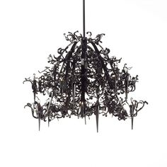 The Flower Power Chandelier - round by Brand Van Egmond has been designed by William Brand, Annet van Egmond. Using the latest techniques to cut flowery sensual shapes out of steel plates, Flower Power is a wonderful rendez-vous between handmade.
