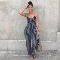 Summer time fine jumpsuit! This sleek and classic look will have heads turning Material: Cotton, Polyester