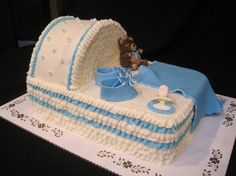 bassinet baby shower cakes - Google Search
