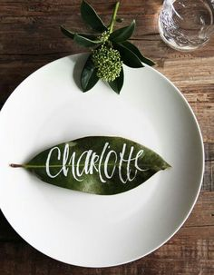 DIY Inexpensive Place Cards