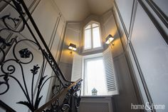 Amazing staircase with our shutters & blinds.