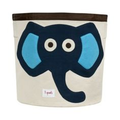 This 3 Sprouts Blue Elephant Storage Bin is ideal in the nursery or children's bedroom for storing toys or clothes, or use as a laundry basket. The 3 Sprouts Storage Bin is made from cotton canvas with a polyester felt applique. Nursery Storage Baskets, Kids Storage Bins, Baby Toy Storage, Toy Bins, Easy Storage, Storage Organization, Bedroom Storage, Clothes Storage, Plastic Storage