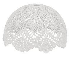 Paralume per lampadario in cotone Love bianco - 30x18x30 cm