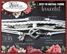 Multi strand charm Bracelet - If Ye Love Me Keep My Commandments YW 2019 Young Women LDS Jewelry New Beginnings gifts, birthday gift, YWIE If Ye Love Me, My Love, Pillow Treats, Young Women Values, Secret Sister Gifts, Young Women Activities, Love Charms, Girls Camp, Inspirational Gifts