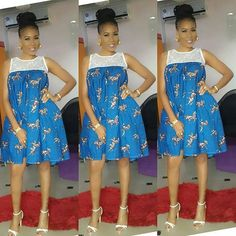 Ankara Xclusive: Classic, Stylish and Latest Ankara Short Dresses 2018 for Smart Ladies African Fashion Ankara, Latest African Fashion Dresses, African Print Dresses, African Print Fashion, African Dress, African Prints, Ankara Short Gown Styles, Ankara Styles For Women, Short Gowns